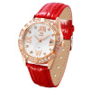 For this (MOOSIE) Ladies watches schoolgirl Waterproof Leather Watchband Quartz Watch Diamond lovers fashion watch relogio feminino watches women fashion guanqin gold case red leather quartz watch luxury ladies diamond wristwatch montre femme