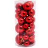 Мульти MeiYiJia Новогодние шары 36 шаров Рождество свет гальванических пластиковые шары новогодние шары украшают елку украшения пакет красный