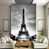 Пользовательские 3D Wall Mural Photo Wallpaper Эйфелева башня Париж-Сити Ностальгия Серые стены Контактная бумага для гостиной Телевизор Диван-фон пазл 3d 216 элементов оригами эйфелева башня