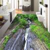 Бесплатная доставка Зеленый Гранд-Каньон течет воды этаж стикеры утолщенной спальни квадратных ванной лобби настил фрески 250cmx200cm лобби ресторан