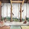 Пользовательский мультфильм Mural Обои Детский сад Раннее обучение Детская спальня Фон Нетканые обои Art Mural Обои Cute Bear раннее развитие айрис пресс волшебный театр золушка