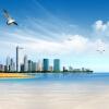 Пользовательские фото обои Sea View City Photography Background 3D Нетканые отпечатанные обои Жилая комната Телевизор Фон Обои на стене v8 sea view ex view talay marina beach 3 паттайя