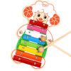 MING TA развивающие игрушки Бусы-кубики фруктов и животных Игрушки для раннего образования развивающие деревянные игрушки кубики овощи
