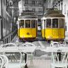 3D фото обои Европейский стиль ретро трамвайная дорога большие фрески ресторан досуг Кафе магазин чая обои гостиная диванная роспись европейский ресторан