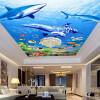 Пользовательские фото Нетканые ткани Обои 3D Ocean World Потолочные настенные картины Гостиная Потолочные обои Papel Pintado Pared