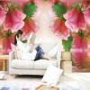 Гостиная 3D пейзажные обои Розовая роза настенная роспись Пользовательская фотостенная бумага для стен 3D Нетканая настенная живопись Домашний декор декор для стен