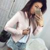 Осень Женщины Черный Короткие пальто Outwear с длинным рукавом Мягкие молнии Женские карманы Повседневные куртки женские куртки