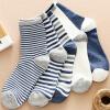 Ю. Zhaolin 5 пар носки мужские спортивные носки моды полосы случайные спортивные носки в тубусе носки полосатые спортивные носки 5 двойной код