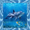 Современный Творческий Дельфин Подводный мир 3D Фото Обои Детская комната Гостиная Телевизор Диван Заставка Mural 3D Cartoon Wall Paper