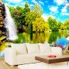 Пользовательские 3D-обои для фотографий Тисненые обои для гостиной ТВ-справочная информация Обои для рабочего стола Papel De Parede 3D Landscape Waterfall обои fwd papel de parede fwp1024