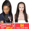 9А полный шнурок человеческих волос Парики Мода Плюс волос 180% Плотность Бразильский Девы волос Бразильский Прямой полный парик ш недорого