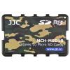 JJC MCH-MSD10YG ультратонкий держатель карты памяти SLR камера держатель карты памяти TF карта цифровая карта памяти упаковка камуфляж зеленый карточный картридж (можно положить 10 MSD / TF карт) joanne jooan видеонаблюдение карты 16g памяти посвященное хранение пожизненной гарантия совместимости карт tf