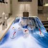 Бесплатная доставка ресторан спальня лобби 3D Water Falls украшение водонепроницаемый пол обои фрески 250cmx200cm лобби ресторан