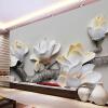 3D Flower Relief Нетканые обои Стена Картина Домашний декор Обои Жилая комната ТВ Обои для рабочего стола Пользовательские настенные росписи пользовательские 3d росписи большие стерео 3d нетканые обои
