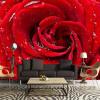 Большая пользовательская роспись 3D Стерео Розы Цветочные обои Спальня Гостиная Телевизор Заставка Дом Декор Брак Комната Нетканые обои