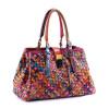 сумка овчины ПУ кожа ручной работы женщин вязание сумка пэчворк сумки женщин известных брендов сумки дизайнер сумочку кожаные сумки женские распродажа