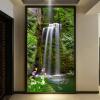 Обои для рабочего стола 3D Обои для стен Водопад Пейзаж Входной зал Проходный фон Стены Картина 3D Тисненые обои Mural обои для стен в нижнем онлайн