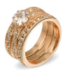 Crystal 3 Round Rose Gold Plated Ring Jewelry Made with Genuine SWA ELEMENTS Crystals From Austria R059 maytoni настольная лампа maytoni nola mod807tl l18w