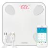 Судак (ICOMON) i9u умный жира весы электронные весы весы жира тела масштаб данных 20 Bluetooth адаптер USB для зарядки управления APP измерения IOS и Android под названием белый жир взвешивали здоровье