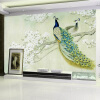 Custom Classic Mural 3D Stereo Peacock Wood Fiber Wallpaper Living Room Study Backdrop Landscape Papel De Parede 3D Home Decor beibehang non woven wall paper 3d vintage pastoral mural wallpaper roll bedroom background decor papel de parede 3d papier peint