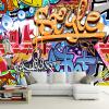Пользовательские 3D стерео фоновые обои Современные абстрактные художественные обои настенные обои Мультфильм граффити Обои для ресторана KTV Bar 3D Decor обои граффити где в тольятти