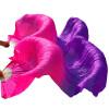 Шелковые поклонники танца живота Природный шелк 1 шт. Левая рука + 1 шт. Правая рука Шелковые вентиляторы Роза + Фиолетовый павлово посадский шелк