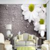 Пользовательские обои для рабочего стола 3D для стен Белый хризантемы Ретро-коричневый фон из дерева Обои на стенах Спальня Прикроватная стена Декоративная самые дешевые обои для стен брянск
