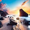 Пользовательские обои Mural Sunset Sea View Солнечный берег Камень 3D Фото Фон Стены Обои Домашний декор Гостиная Стена Картина v8 sea view ex view talay marina beach 3 паттайя