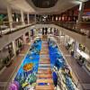 Бесплатная доставка Морской проход пол наклейка водонепроницаемый крыльцо износ этаж гостиной ресторан обои фрески 250cmx200cm морской ресторан