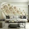Пользовательские фото обои Mural 3D Стерео абстрактное пространство Золотой мяч Современные моды интерьера фона стены декоративной живописи
