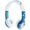 BUDDYPHONES MOOMIN милый мультфильм детские складные наушники гарнитура с микрофоном защиты детей слуха изучение английского синий подарок на день рождения