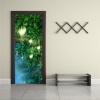 Пользовательские обои Mural 3D Фея Лесная дверь Стикер Самоклеящиеся виниловые обои Гостиная Спальня Дверь Домашний декор 77cmx200cm дверь цена в липецке