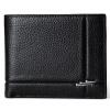 Danjue Для мужчин Женские Кошельки натуральная кожа одноцветное Цвет короткие черные кошелек Высококачественная брендовая одежда к брендовая одежда