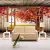 Пользовательские 3D обои настенные обои Клен Дерево Пейзаж Фото обои для гостиной Диван Телевизор Фон Спальни Стены Дом Декор
