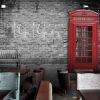 Пользовательский размер Фото Кафе ресторан досуга магазин одежды 3D европейский стиль ретро обои Британская уличная роспись обои пользовательский чай магазин обои 3d стерео простой ретро кирпичный дерево роспись кафе бар ресторан чай магазин обои фрески