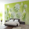 Пользовательские обои 3D Mural Современное минималистическое искусство Свежие лилии настенные обои для спальни Обои для рабочего стола Домашнее украшение Контактная бумага пользовательские обои mural 3d wall mural природные пейзажи водопады и зеленое дерево обои для рабочего стола нетканые настенные пок