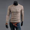 Smoky gray New Men's fashion Sweater Irregular button stitching fashionable slim игрушка ecx ruckus gray blue ecx00013t1