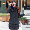 2017 New Winter Coat Long Thick Cotton Padded Jacket Warm Cotton Slim Down Jackets plus size casual women long cotton jackets 2017 autumn winter new hooded thicker coat full sleeve loose warm cotton coat qh0446