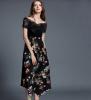Lovaru ™2 015 лето новый европейский этап трехмерного печатные шифона юбки высокая талия юбки тонких секции неправильной