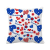 USA Love Heart Flower Festival Pattern Square Throw Pillow Insert Cushion Cover Home Sofa Decor Gift linen sailing yacht anchor map pillow case home decor cushion cover
