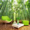 Пользовательские фото обои Bamboo пейзаж фон стена настенная роспись обои настенная роспись гостиная спальня домашнее украшение