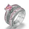 Новое кольцо AAA Pink Cubic Zirconia с черным позолоченным кольцом с бриллиантовым кольцом CZ Кольцо с роскошным модным кольцом для женщин