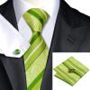 n-0452 Vogue мужчин шелковым галстуком установили зеленый полоса галстук платок запонки установить связи для мужчин официальный свадебный бизнес оптом купить шифер оптом в липецке