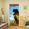 3D мультфильм динозавров животных обои 3D Настенные настенные наклейки Дети Спальня дверь Домашний декор ПВХ Водонепроницаемая дверь Mural 77cmx200cm дверь цена в липецке