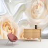 Пользовательские обои настенные обои для спальни для спальни Современный дизайн Розовый цветок Шелк Нетканые обои Обои для картины Papel De Pared 3D