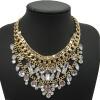 YAZILIND Белый Кристалл Rhinestone Золото и серебро покрытием Коренастый колье ожерелье женщин ювелирные изделия