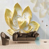 Пользовательские фото стены бумаги 3D стерео рельеф Золотой лотос большие обои обои гостиной диван диван стены украшение картины