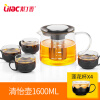 Lilac explosion proof heat resistant glass teapot, thickened health pot, stainless steel filter kettle, domestic tea kettle