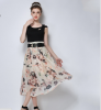 Lovaru ™Органза юбка неправильную станции Европы +2015 летом новые женские юбки печати темперамент женские юбки в розницу