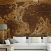 3D-обои для фото Ностальгическая роспись гостиной спальни для спальни обои ретро KTV бар карта мира обои настенная роспись для спальни